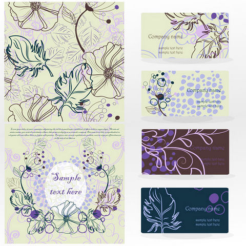 14-leaves-pattern-card-vector-material