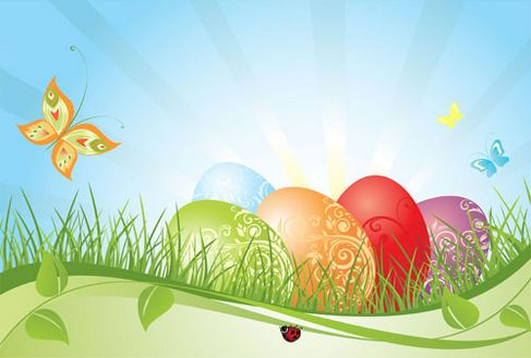 Background of colorful Easter Vector 02.jpg