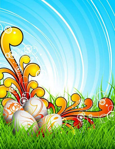 Background of colorful Easter Vector 03.jpg