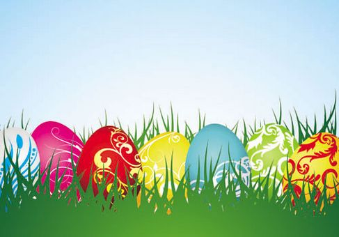Background of colorful Easter Vector 04.jpg