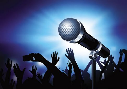 Microphone background of bright Vector 02.jpg