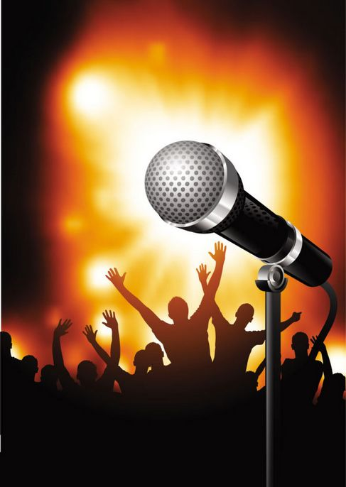 Microphone background of bright Vector 03.jpg