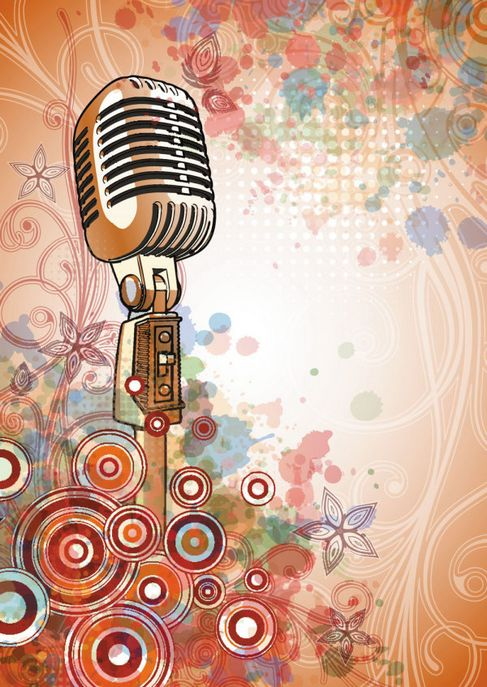 Microphone background of bright Vector 04.jpg