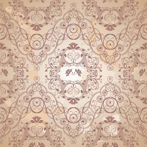 Retro floral pattern Vector 05.jpg