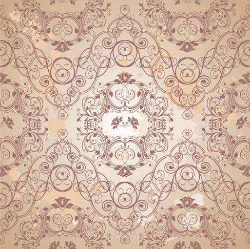 Retro floral pattern Vector 05.jpg