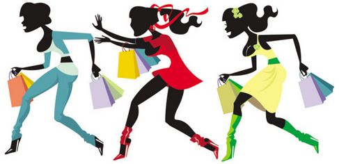 Shopping Girls Vector 04