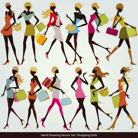 Shopping Girls Vector 05.jpg