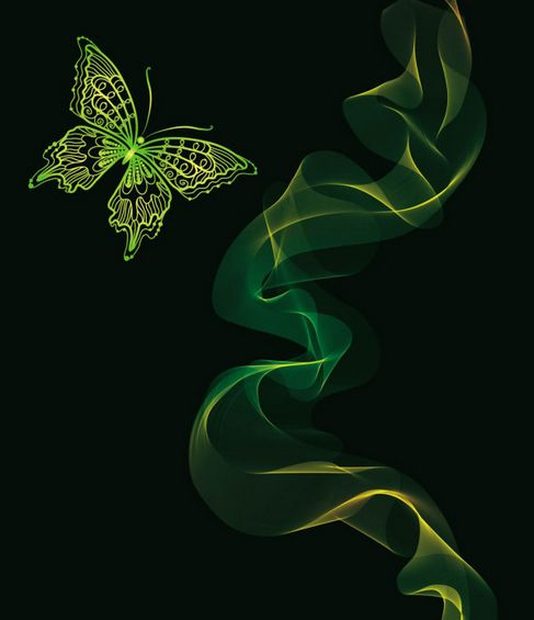 Brilliant neon butterfly Vector 04.jpg