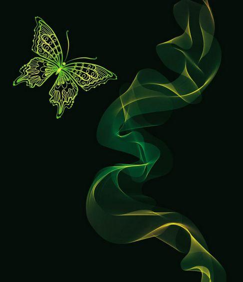 Brilliant neon butterfly Vector 04.jpg