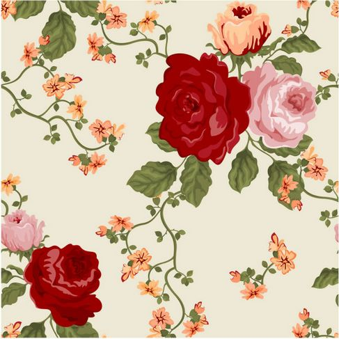 Colorful flowers background Vector 01.jpg