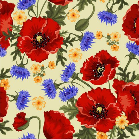 Colorful flowers background Vector 02