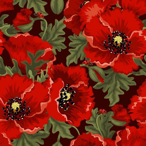 Colorful flowers background Vector 05.jpg