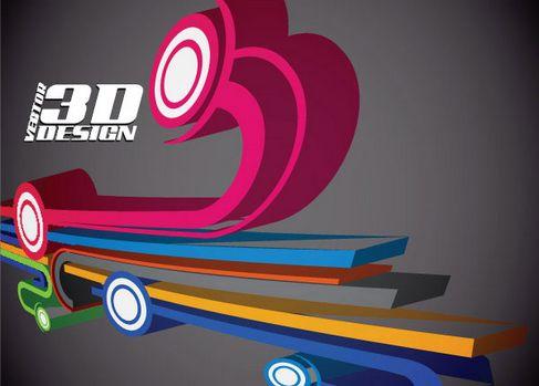 Dynamic three-dimensional elements Vector 01.jpg