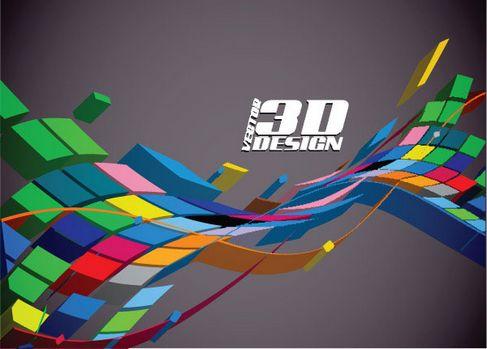 Dynamic three-dimensional elements Vector 02.jpg