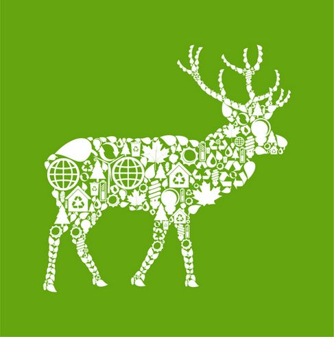 Environmental elements of the image vector collage of animal material deer.jpg