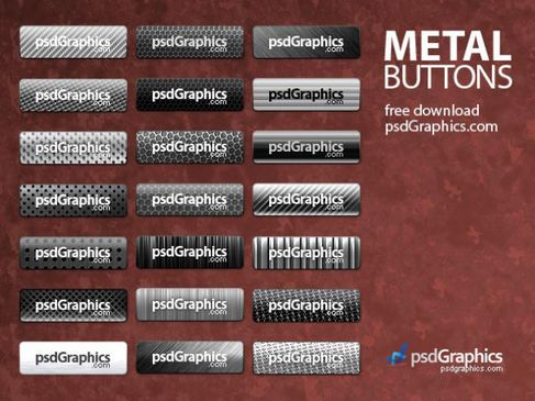 Fine metal button psd layered material.jpg
