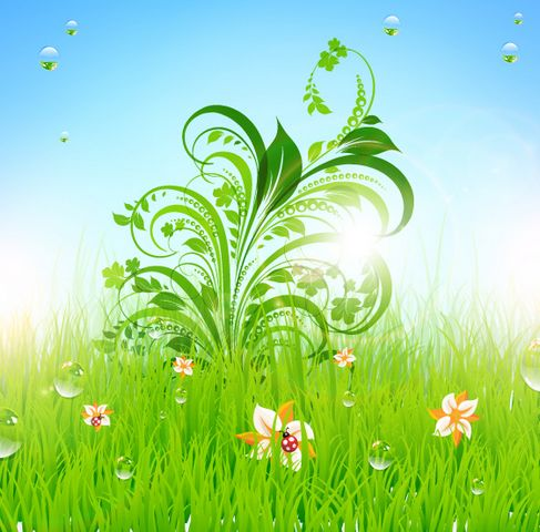 Patterns of green grass Vector 01.jpg