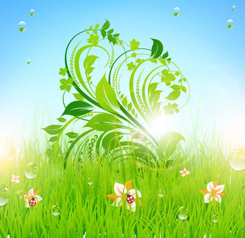 Patterns of green grass Vector 02.jpg