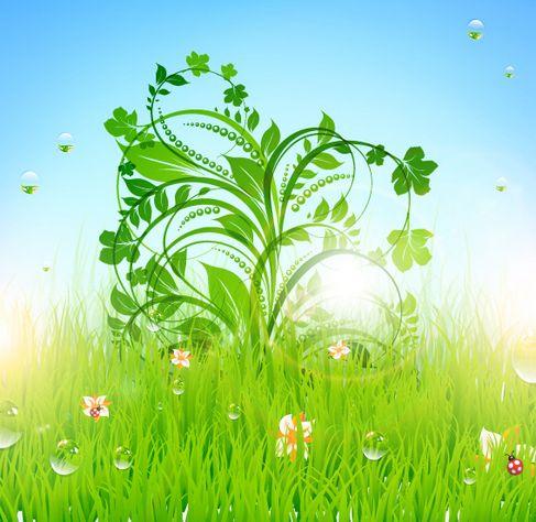 Patterns of green grass Vector 03.jpg