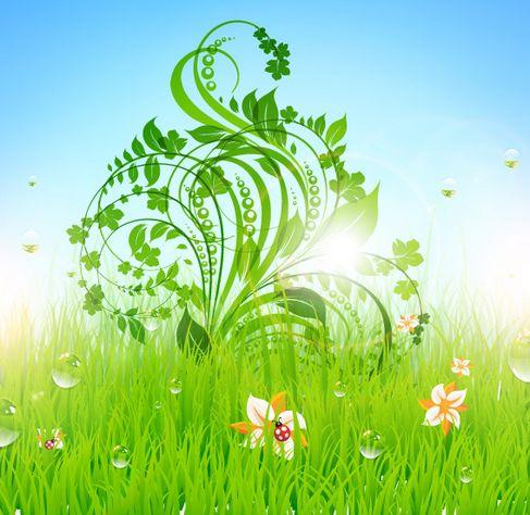 Patterns of green grass Vector 04.jpg