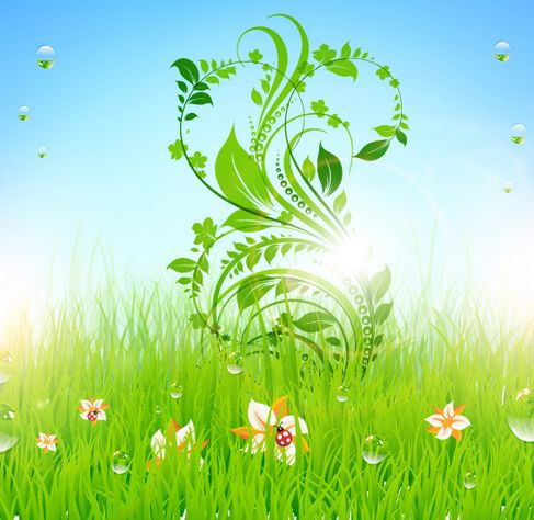 Patterns of green grass Vector 05.jpg