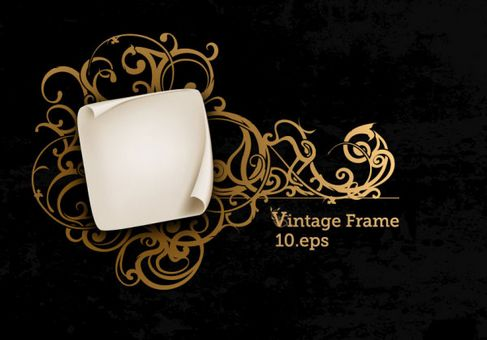 Gorgeous European-style frame Vector 03.jpg
