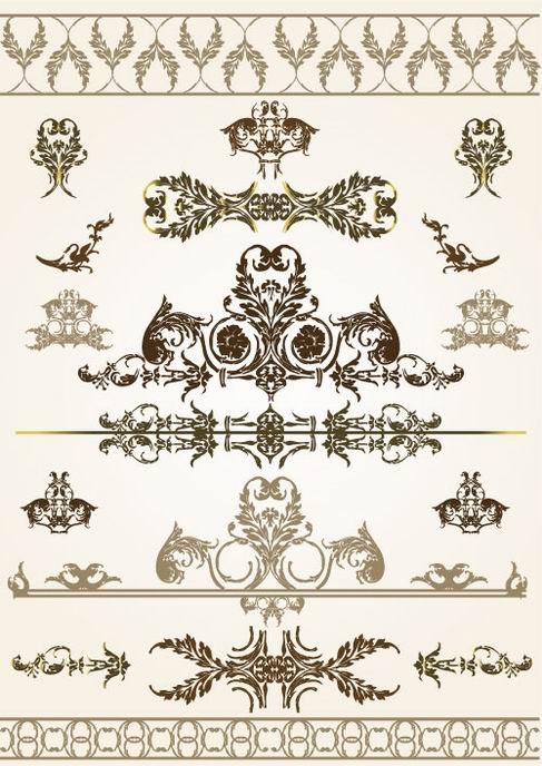 Beautiful lace pattern vector material 03.jpg