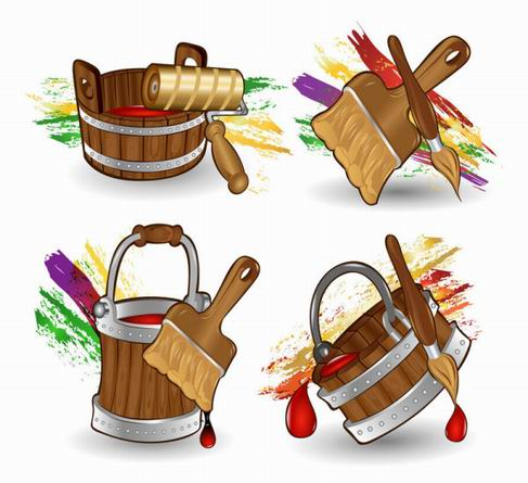 Cartoon Paint Bucket vector material.jpg