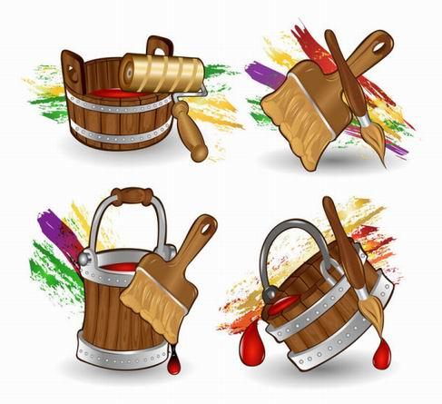 Cartoon Paint Bucket vector material.jpg
