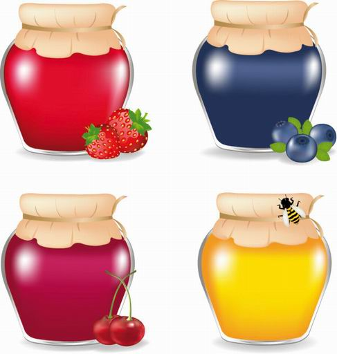 Food jar vector material 03.jpg