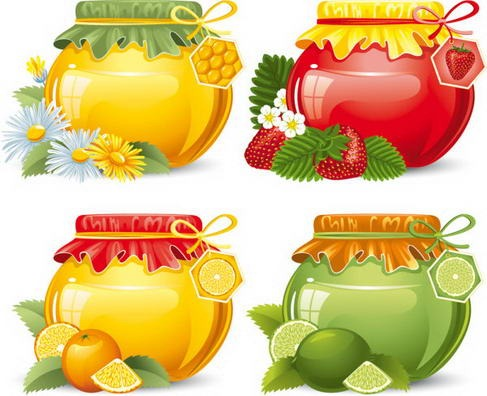 Food jar vector material 05
