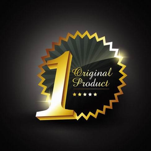 Gold badge labels vector material 04.jpg