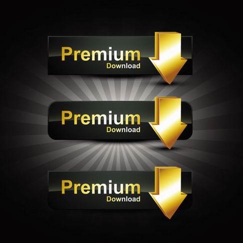 Gold badge labels vector material 06.jpg