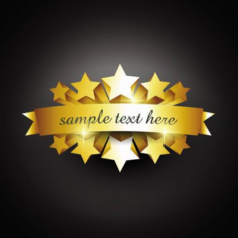 Gold badge labels vector material 07.jpg