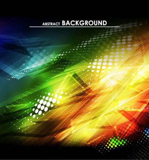 Gorgeous bright halo background vector material 01.jpg
