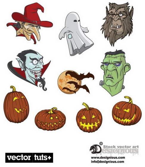 Halloween material vector material