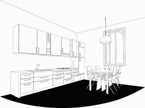 Interior line is issued Figure Vector material 02.jpg