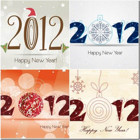 2012 Christmas WordArt vector material