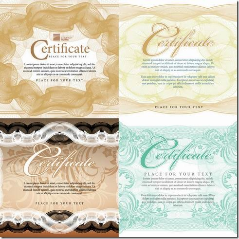 Certificate of Commendation vector material
