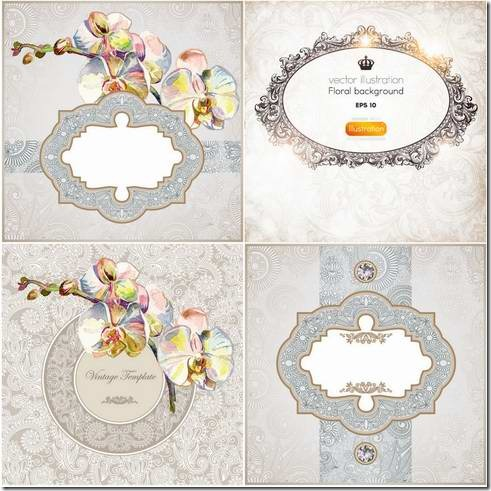 Exquisite frame design pattern material