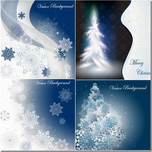 Snow background design material