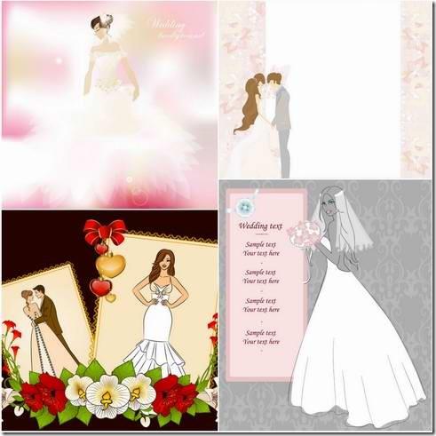 Wedding postcard design material