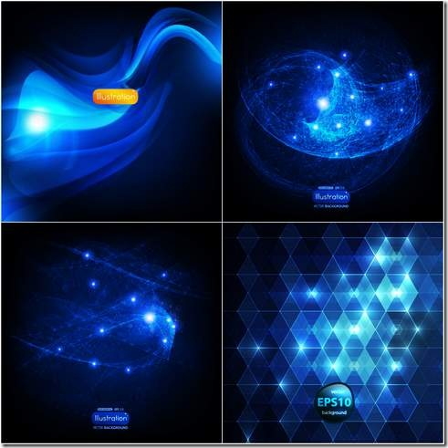 Blue abstract background vector material