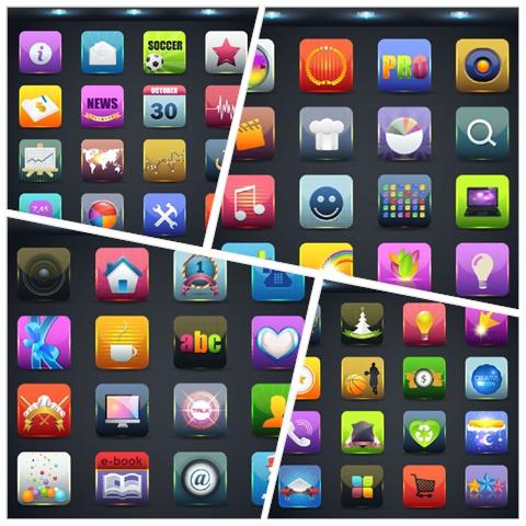 64 web icon button vector material