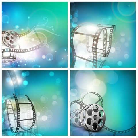 Five exquisite fantasy film background Vector