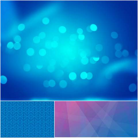 3 HD shades of blue background Vector