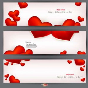 22 beautiful valentine cards vector material 04