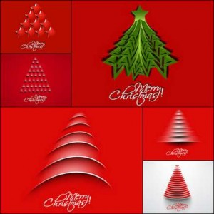 26 creative Christmas tree vector material (1)
