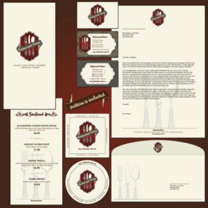 Five Menu restaurant cafe bar corporate identity and logo vector 01 (1)