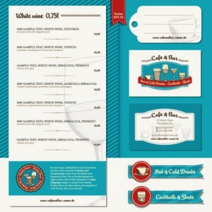Five Menu restaurant cafe bar corporate identity and logo vector 01 (3)